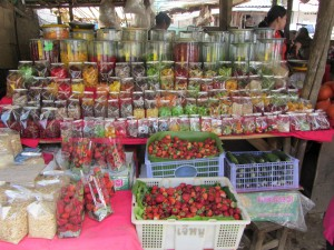 puesto fruta tailandia