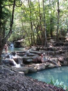 Niveles de saltos de agua de Erawan