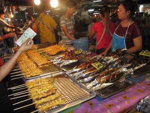 Puesto pescado en market