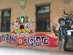 Barrio Universitario graffiti de Bolonia