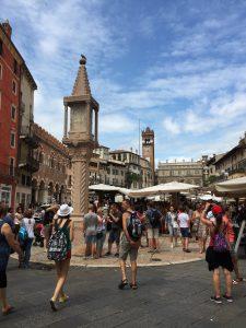 columna del Mercado en Verona