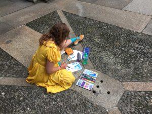 Pintora en Milán