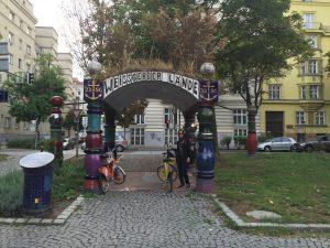 Parada con la bicicleta en Viena