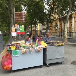 Puesto callejero en Zagreb