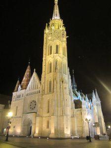 Parlamento de noche de Budapest