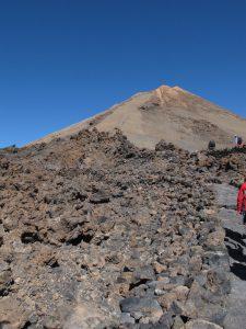 camino a la cima de El Teide