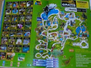 Mapa de Loro Parque