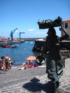 Estatua pescadores Puerto de la Cruz