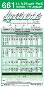 horario-vuelta-661-madrid-las-rozas-el-escorial-autobuses-interurbanos