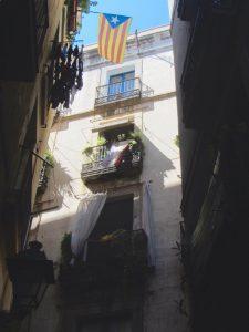 Edificio del barrio de Gótico de Barcelona