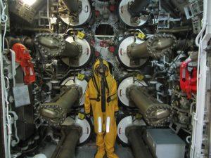 Sala de maquinas del submarino de Torrevieja
