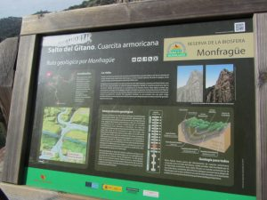Cartel Salto del Gitano Monfragüe