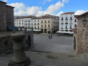 Plaza Mayor en Cáceres