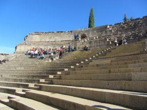 Gradas del Teatro Romano de Mérida