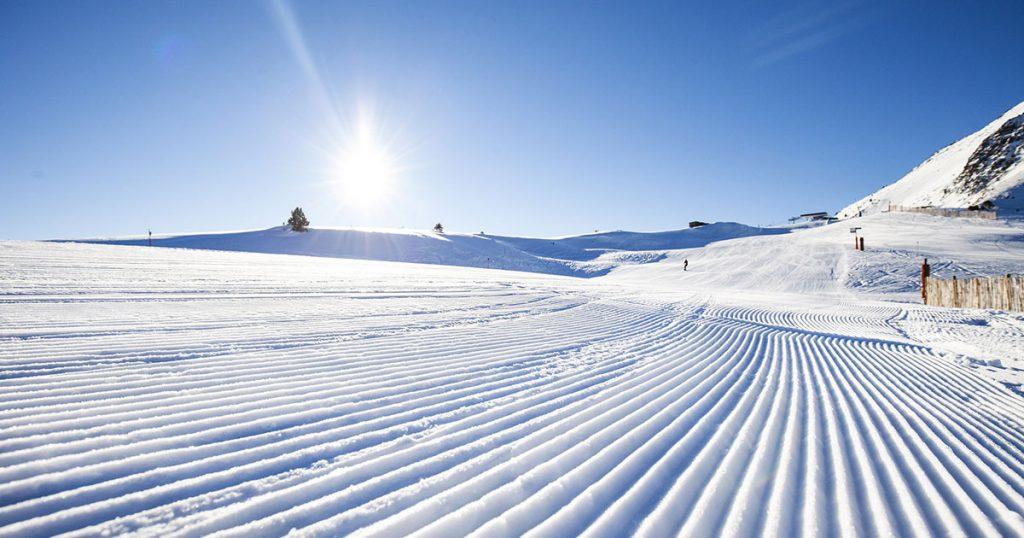 nieve pista de esquí