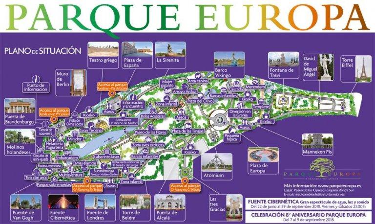 Mapa Parque Europa