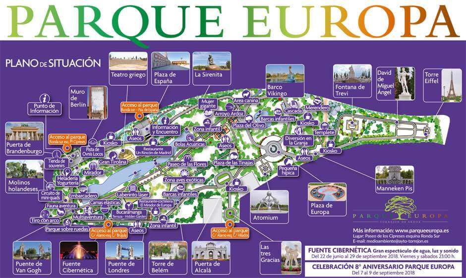 Visitar el Parque Europa: monumentos e información sobre el parque
